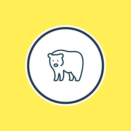 Vector illustration of bear icon line. Beautiful animals element also can be used as grizzly icon element.