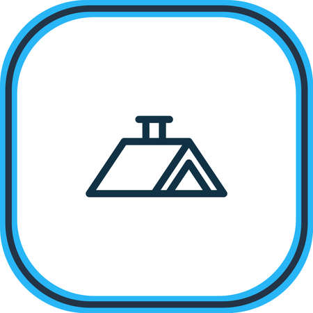 Vector illustration of roof icon line. Beautiful industry element also can be used as construction icon element. Stock Illustratie
