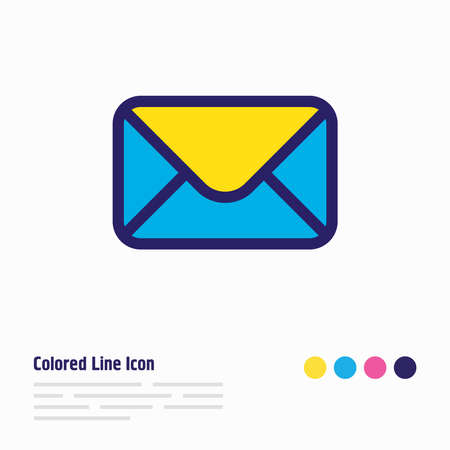 Vector illustration of mail icon colored line. Beautiful annex element also can be used as letter icon element. 版權商用圖片 - 146228520