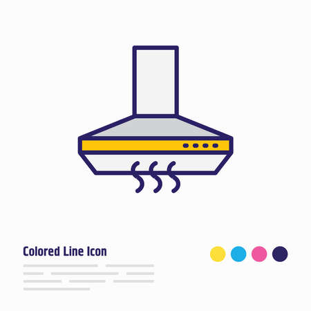 Vector illustration of kitchen hood icon colored line. Beautiful kitchenware element also can be used as extractor icon element.