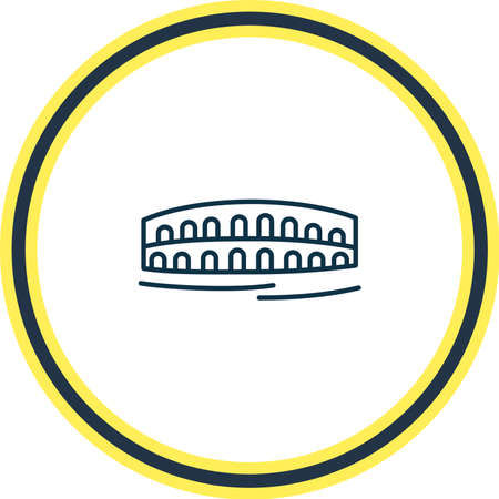 Vector illustration of arena di verona icon line. Beautiful world landmarks element also can be used as amphitheater icon element.