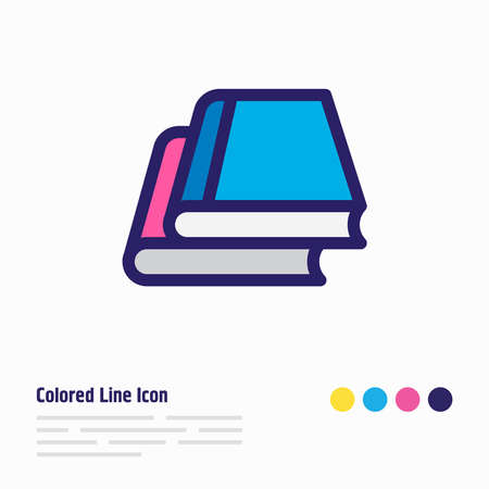 Vector illustration of library icon colored line. Beautiful book reading element also can be used as knowledge icon element.