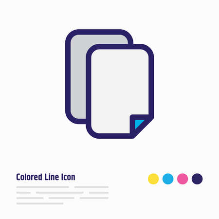 Vector illustration of copy icon colored line. Beautiful memory element also can be used as duplicate file icon element.