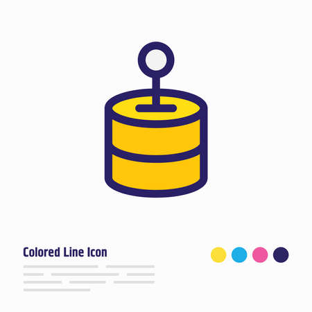 Vector illustration of network solution icon colored line. Beautiful network element also can be used as database icon element.