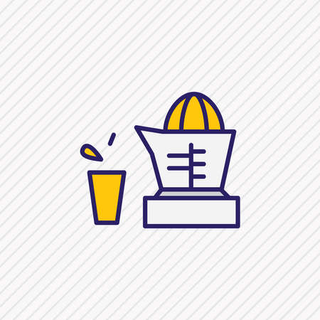 Vector illustration of juicer icon colored line. Beautiful kitchenware element also can be used as orange squeezer icon element.
