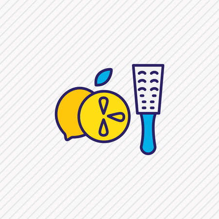 Vector illustration of zester icon colored line. Beautiful kitchenware element also can be used as grater icon element.