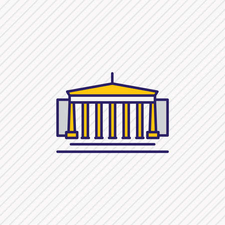 Vector illustration of british museum icon colored line. Beautiful history element also can be used as column icon element.