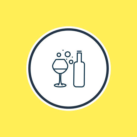 Vector illustration of red wine icon line. Beautiful drink element also can be used as winery icon element. 일러스트
