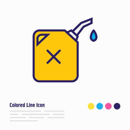 illustration of gas can icon colored line. Beautiful transportation element also can be used as fuel container icon element.