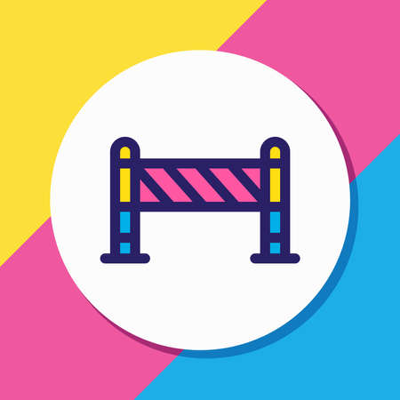 illustration of barrier icon colored line. Beautiful construction element also can be used as roadblock icon element.