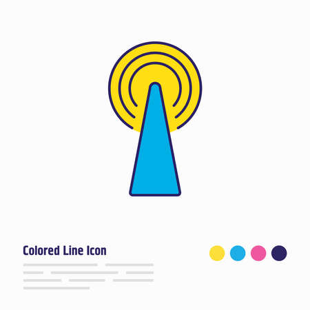 illustration of router icon colored line. Beautiful internet element also can be used as telecom icon element.