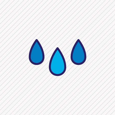 illustration of drops icon colored line. Beautiful meteorology element also can be used as rain icon element. 스톡 콘텐츠