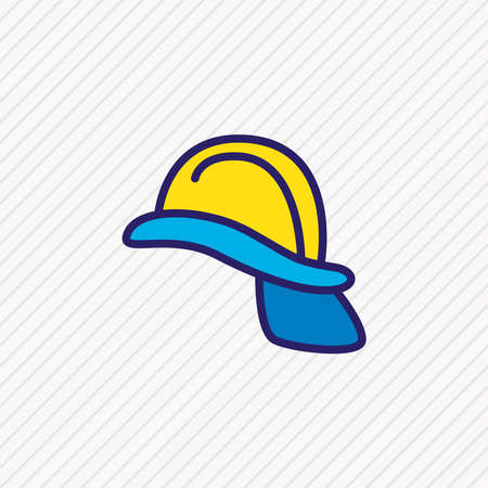 Vector illustration of helmet icon colored line. Beautiful necessity element also can be used as hardhat icon element.