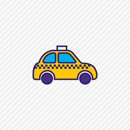 Vector illustration of taxi icon colored line. Beautiful transport element also can be used as cab icon element.