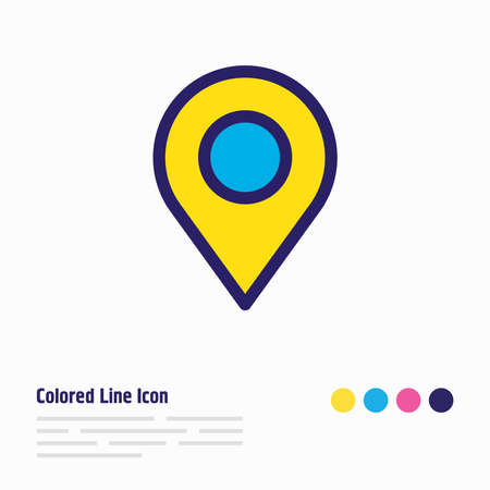 Vector illustration of location icon colored line. Beautiful community element also can be used as pin icon element. Illusztráció
