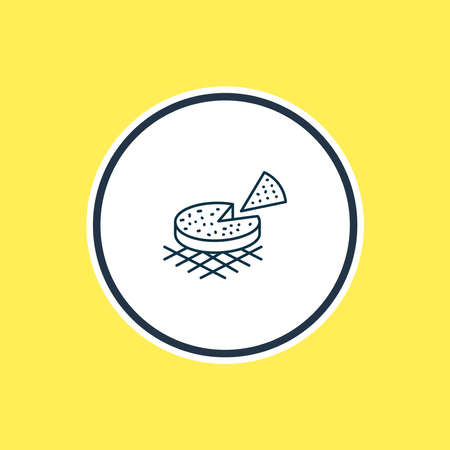 Vector illustration of finnish squeaky cheese icon line. Beautiful world cuisine element also can be used as pie icon element.
