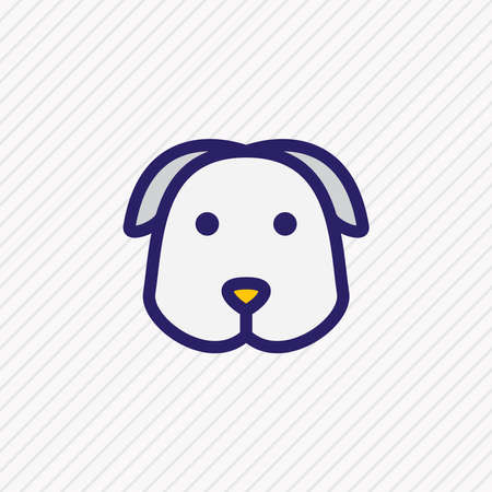 Vector illustration of dog icon colored line. Beautiful pet element also can be used as puppy icon element.