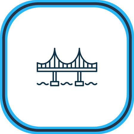 Vector illustration of golden gate icon line. Beautiful world landmarks element also can be used as bridge icon element.