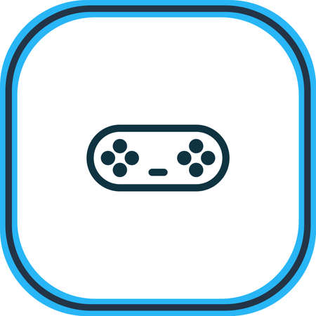 Vector illustration of game controller icon line. Beautiful entertainment element also can be used as joystick icon element.