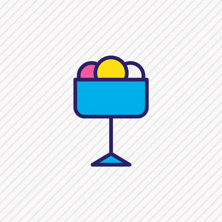 illustration of ice cream icon colored line. Beautiful eating element also can be used as sundae icon element. Stock fotó