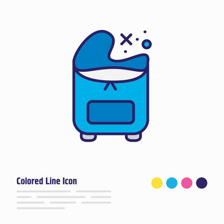 illustration of freezer bag icon colored line. Beautiful kitchenware element also can be used as storage icon element.