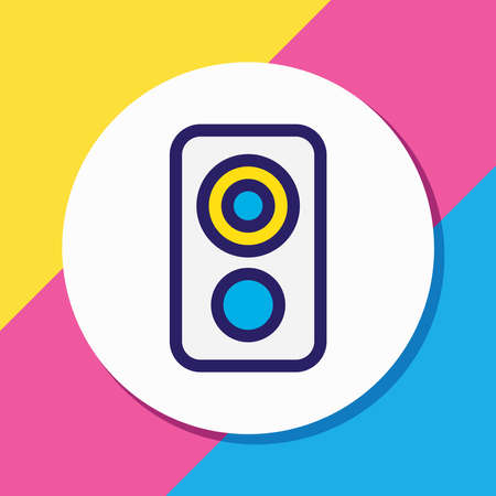 illustration of loudspeaker icon colored line. Beautiful music element also can be used as amplifier icon element. Stock fotó