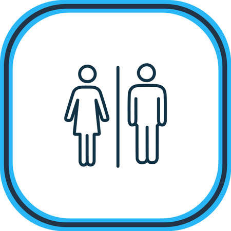 illustration of bathroom icon line. Beautiful tourism element also can be used as wc icon element. Stock fotó