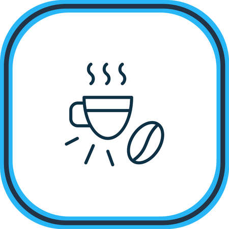 Vector illustration of espresso icon line. Beautiful drink element also can be used as cappuccino icon element.