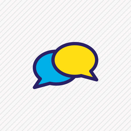 Vector illustration of chat icon colored line. Beautiful contact element also can be used as dialogue icon element.