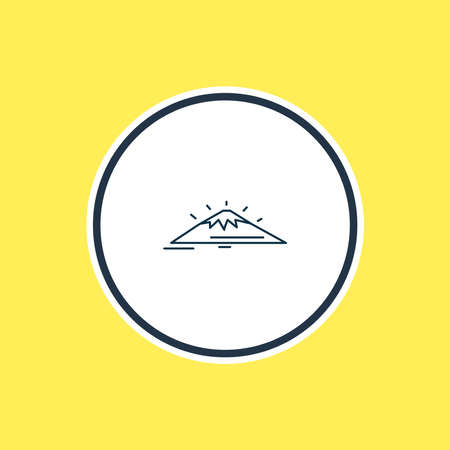 Vector illustration of mount fuji icon line. Beautiful world landmarks element also can be used as mountain icon element. 일러스트