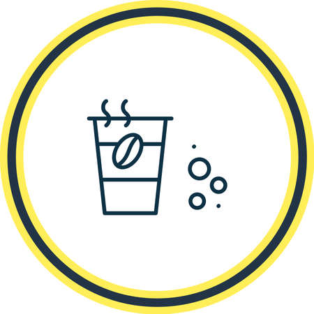 Vector illustration of take away coffee icon line. Beautiful drink element also can be used as decaf icon element.