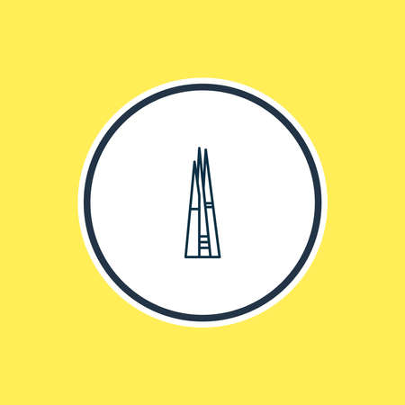 Vector illustration of the shard icon line. Beautiful tourism element also can be used as metropolis icon element.
