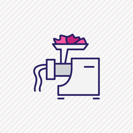Vector illustration of meat grinder icon colored line. Beautiful electric utility element also can be used as mincer icon element. 向量圖像