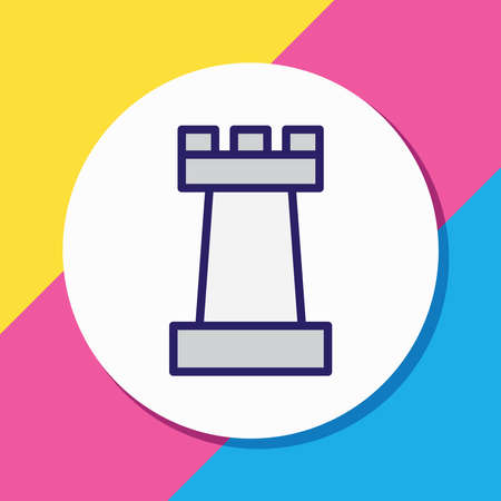 illustration of chess figure icon colored line. Beautiful fitness element also can be used as competition icon element.
