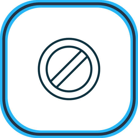 illustration of no entry icon line. Beautiful direction element also can be used as block icon element.