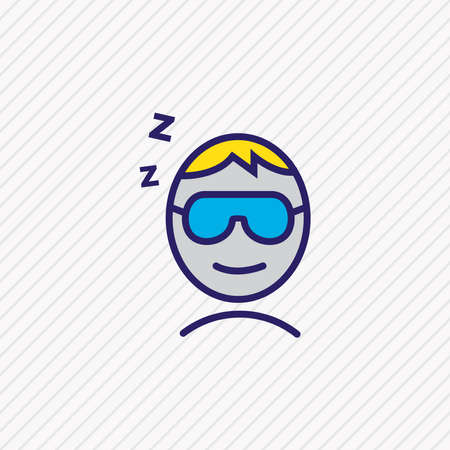 illustration of sleeping man icon colored line. Beautiful vacation element also can be used as asleep icon element.