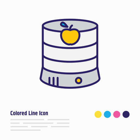 illustration of fruit dryer machine icon colored line. Beautiful electric utility element also can be used as equipment icon element.