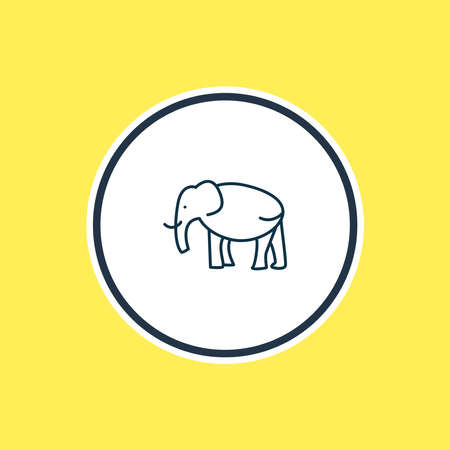 illustration of elephant icon line. Beautiful animals element also can be used as trunked animal icon element. Reklamní fotografie