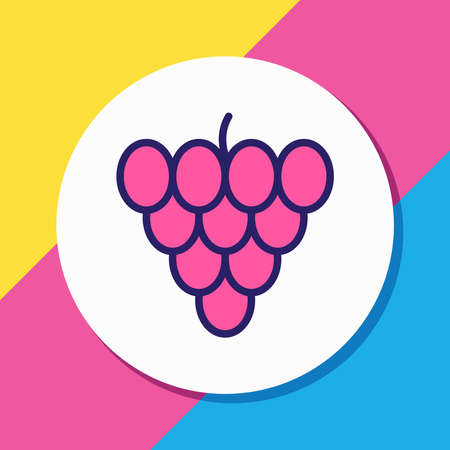 Vector illustration of vineyard icon colored line. Beautiful food element also can be used as grape icon element. Ilustrace