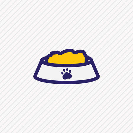 Vector illustration of nutrition icon colored line. Beautiful animal element also can be used as pet food icon element.