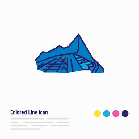 Vector illustration of machu picchu icon colored line. Beautiful tourism element also can be used as travel icon element.