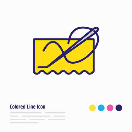 Vector illustration of stitching icon colored line. Beautiful lifestyle element also can be used as needlework icon element. Ilustrace