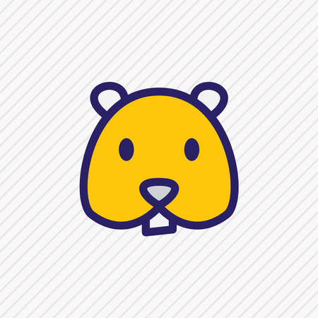 Vector illustration of hamster icon colored line. Beautiful animal element also can be used as rodent icon element.