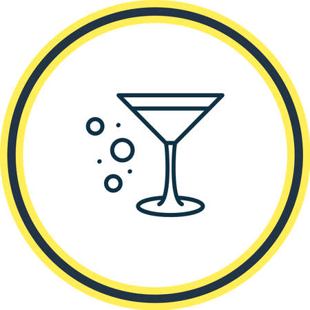 Vector illustration of cocktail glass icon line. Beautiful alcohol element also can be used as martini icon element.