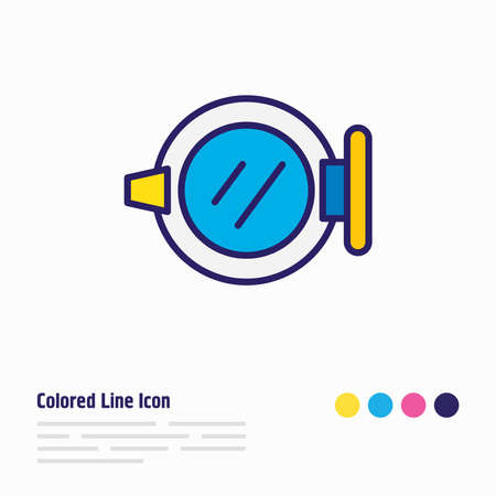 illustration of ship window icon colored line. Beautiful naval element also can be used as porthole icon element.