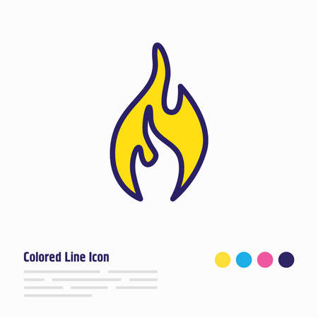 illustration of fire icon colored line. Beautiful emergency element also can be used as flame icon element.
