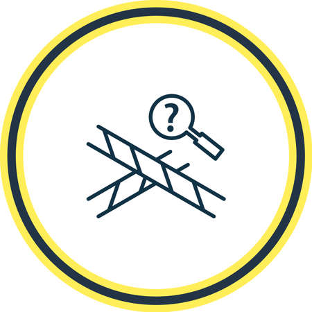 illustration of crime scene icon line. Beautiful justice element also can be used as magnifying icon element.