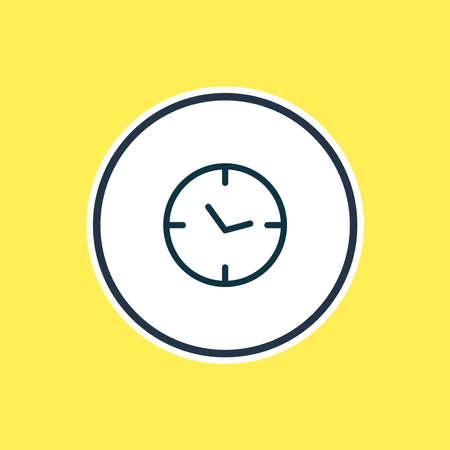 illustration of clock icon line. Beautiful contact element also can be used as watch icon element.
