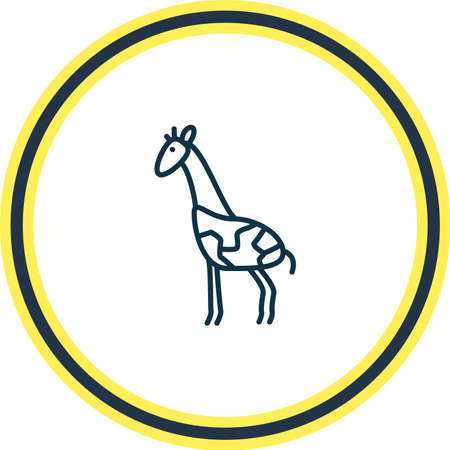illustration of giraffe icon line. Beautiful zoology element also can be used as mammal icon element.