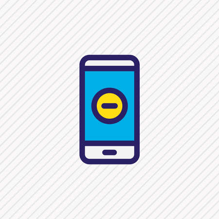 illustration of remove icon colored line. Beautiful smartphone element also can be used as minus icon element. Foto de archivo